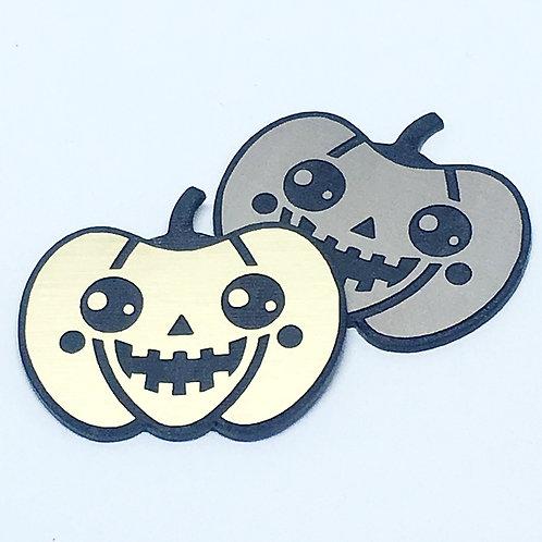 1 Piece. Cute Halloween Jack O'Lantern Cabochons -Acrylic Laser Cut Shapes