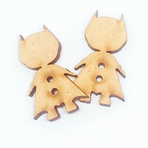 Lasercut Craft Wood–1 Piece. Super Hero 20mm Wide.Scrapbook.Wood Craft Shape