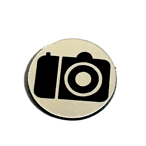 8 Piece. Snap Camera Mini Cabochons-Acrylic Laser Cut Shapes