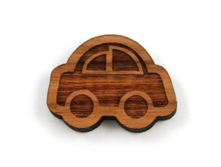 1 Piece. Motor Car Charms- Wood Laser Cut Shapes