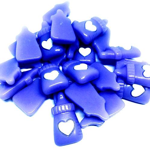 1 Piece. Purple Baby Bottle Resin Cabochon Flat Back Embellishments