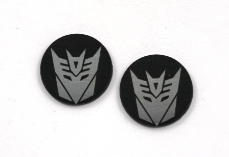 Laser Cut Supplies-8 Piece. Decepticon Charms-Acrylic and Wood Laser Cut Shapes