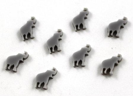 Laser Cut Supplies-8 Pieces.Elephant Charms-Acrylic.Wood Laser Cut Shapes