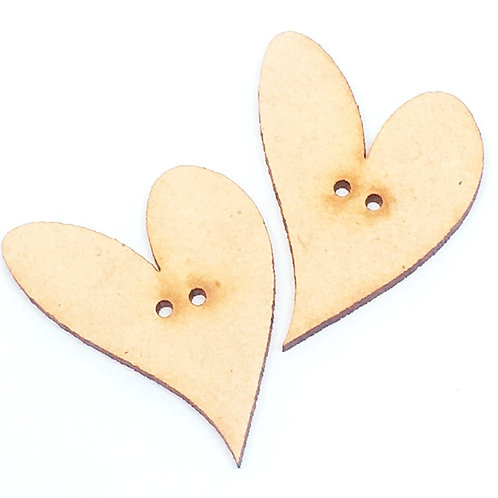 Lasercut Craft Wood Large Heart –1 Piece. 35mm Wide. Scrapbook. Wood C