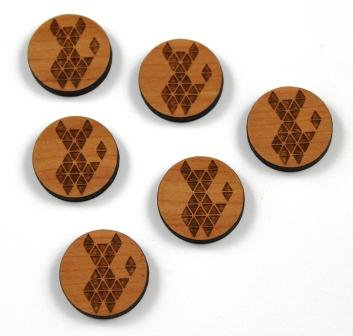 8 Pieces. Geo dog Charms-Wood Laser Cut Shapes
