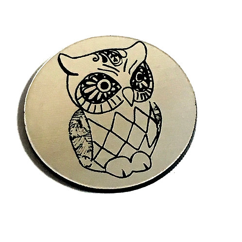 1 Piece. Little Owl Cabochon -Acrylic Laser Cut Shape