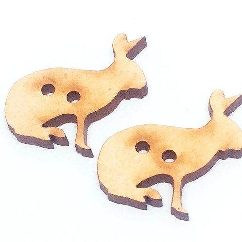 Lasercut Craft Wood Jack Rabbit –1 Piece. 25mm Wide. Scrapbook. Wood C