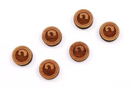8 Pieces. Eagle Charms-Wood Laser Cut Shape