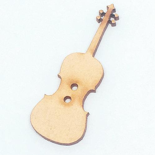 Lasercut Craft Wood –1 Piece. Violin 20mm Wide. Scrapbook. Wood Craft Sha