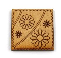 Laser Cut Supplies-1 Piece. Flower Power Tile-Acrylic. Wood Laser Cut Shape