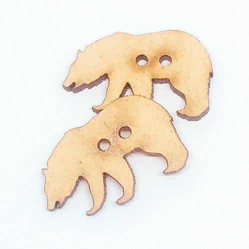 Lasercut Craft Wood–1 Piece. Bear 30mm Wide.Scrapbook.Wood Craft Shape