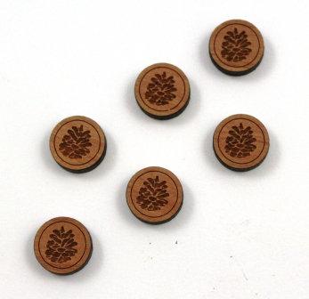 8 Pieces. Pine Cones Charms-Wood Laser Cut Shape
