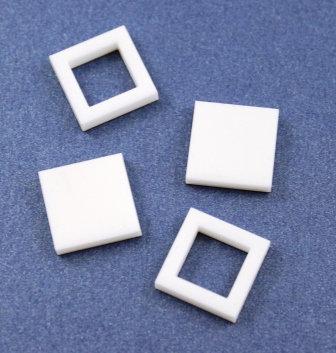 8 Pieces. Square Bezel Mini Charms-Acrylic Laser Cut Shape