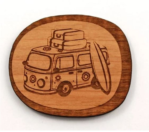 Laser Cut Supplies-1 Piece. Combi Van Charms-Acrylic.Wood Laser Cut Shape
