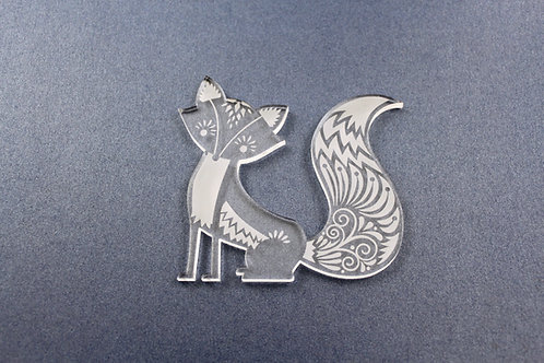 Laser Cut Supplies-1 Piece. Fox Charms-Acrylic.Wood Laser Cut Shape