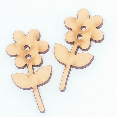 Lasercut Craft Wood –1 Piece.Flower 20mm Wide. Scrapbook. Wood Craft Shape