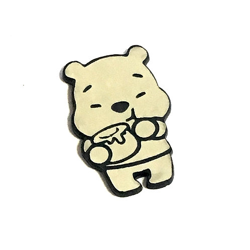 1 Piece. Honey Bear Cabochon -Acrylic Laser Cut Shapes