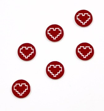 Laser Cut Supplies-8 Piece. Modern Heart Charms-Acrylic Laser Cut Shape