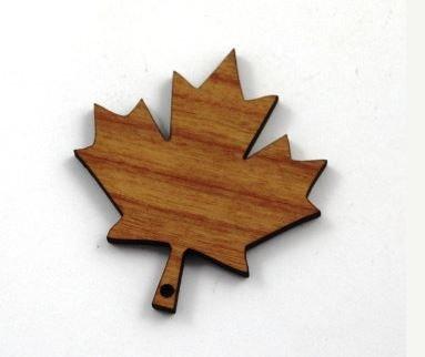 Laser Cut Supplies-1 Piece.Maple Leaf Charms-Acrylic. Wood Laser Cut Shape