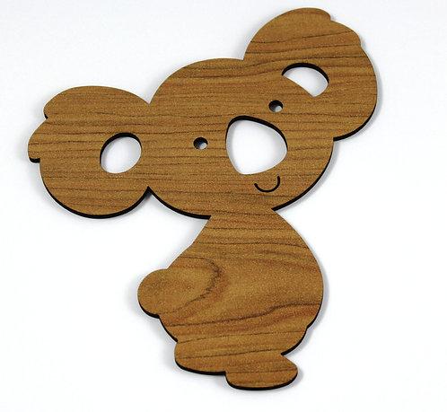 Laser Cut Supplies-1 Piece. Koala Charms-Acrylic. Wood Laser Cut Shape
