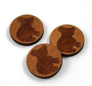 Laser Cut Supplies-8 Pieces.Koala Charms-Acrylic.Wood Laser Cut Shapes