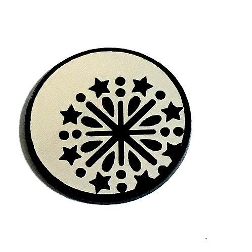 8 Piece. Snowflake Mini Cabochons-Acrylic Laser Cut Shapes
