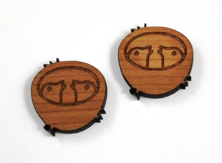 1 Piece. Baby Bird Charms-Acrylic. Wood Laser Cut Shapes