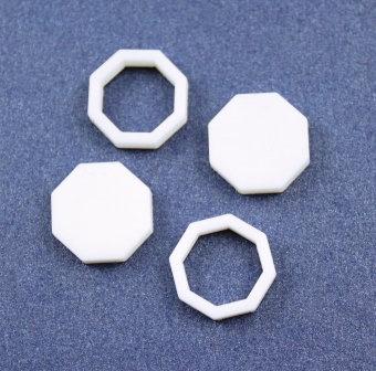 8 Pieces. Octagon Bezel Mini Charms-Acrylic Laser Cut Shape