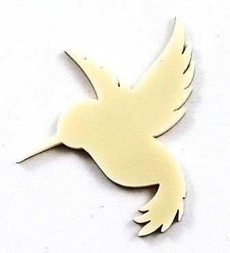 Laser Cut Supplies-1 Piece. Humming Bird Charms-Acrylic.Wood Lasercut Shape
