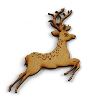 Laser Cut Supplies-1 Piece. Deer Charms-Acrylic. Wood Laser Cut Shape