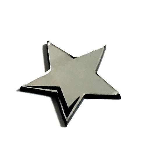 8 Piece. Star Light Mini Cabochons-Acrylic Laser Cut Shapes