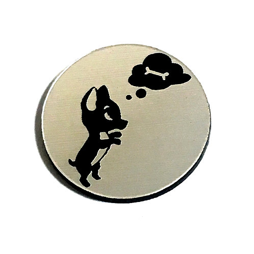 1 Piece. Dreaming Chihuahua Cabochon -Acrylic Laser Cut Shapes