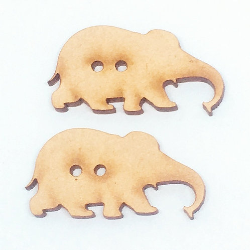 Lasercut Craft Wood –1 Piece. Elephant 35mm Wide. Scrapbook. Wood Craft Shape