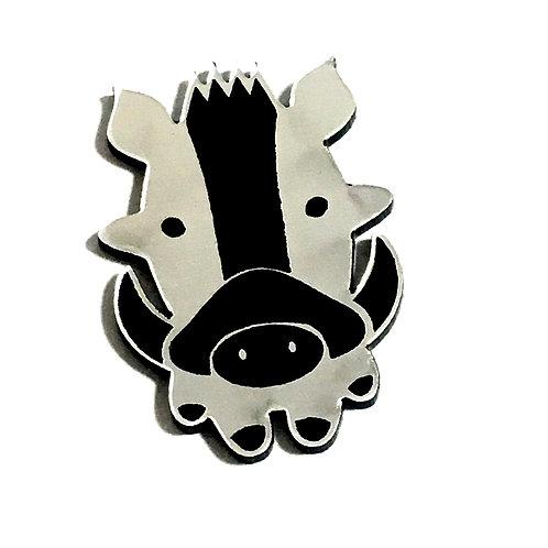 1 Piece. Wart Hog Cabochon -Acrylic Laser Cut Shape