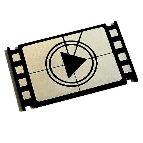 1 Piece. Film Play Cabochon -Acrylic Laser Cut Shape