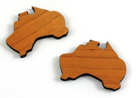 Laser Cut Supplies-1 Piece. Australia Charms-Acrylic. Wood Laser Cut Sha