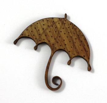 Laser Cut Supplies-1 Piece. Umbrella Charms-Acrylic. Wood Laser Cut Shape