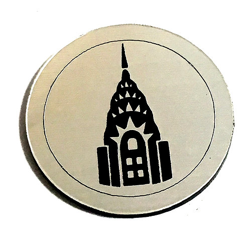 1 Piece. Empire State Building Cabochon -Acrylic Laser Cut Shape
