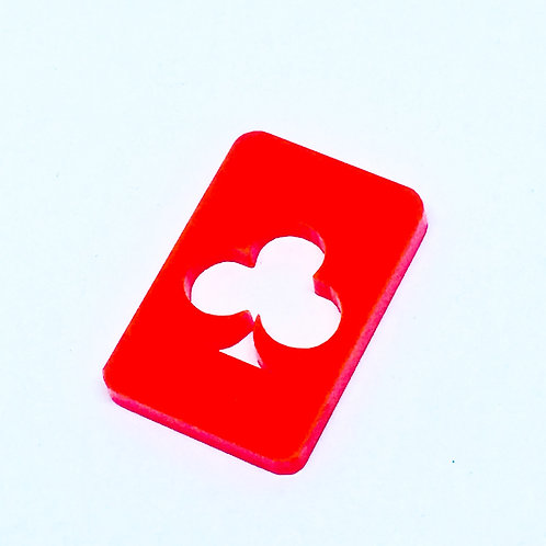 1 Piece. Playing Card Club Charms-Acrylic Laser cut Shapes Online