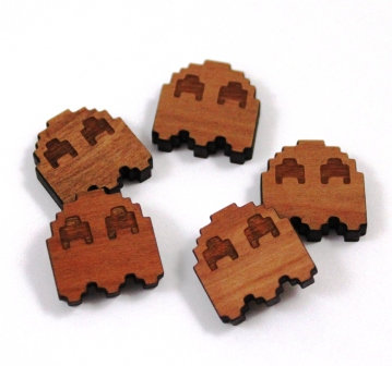Laser Cut Supplies-8 Pieces.Ghost Charms-Acrylic.Wood Laser Cut Shapes