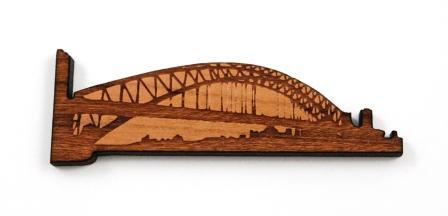 1 Piece. Sydney Harbor Bridge Charms- Wood Laser Cut Shapes