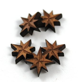 Laser Cut Supplies-8 Pieces.Nautical Star Charms-Acrylic.Wood Laser Cut Shapes