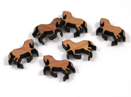 Laser Cut Supplies-8 Pieces. Horse Charms-Acrylic.Wood Laser Cut Shapes