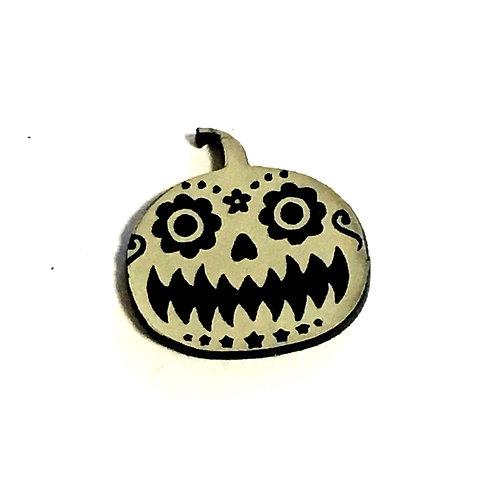 1 Piece. Spooky Pumpkin Cabochon -Acrylic Laser Cut Shapes