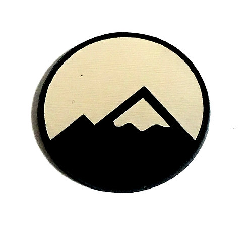 8 Piece. Snow Mountain Peak Mini Cabochons-Acrylic Laser Cut Shapes