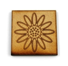 Laser Cut Supplies-1 Piece. Daisy Tile-Acrylic. Wood Laser Cut Shape