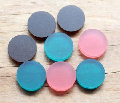 2 Pieces. Frosted Acrylic 10mm Circles - Laser Cut Jewelry Supplies