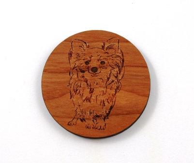 1 Piece. Cute Pomeranian Puppy Charms- Wood Laser Cut Shapes