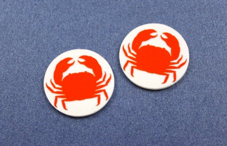 1 Piece. Seaside Crab Cabochon -Acrylic Laser Cut Shapes