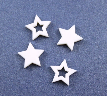 8 Pieces. Star Bezel Mini Charms-Acrylic Laser Cut Shape